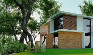 modom livingplus case in legno