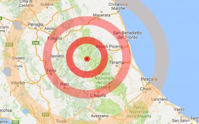 Elenco comuni nel cratere del terremoto del 2016
